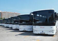 Ligne autocars Transdev services alternatifs Lousa Portugal bus rouge blanc