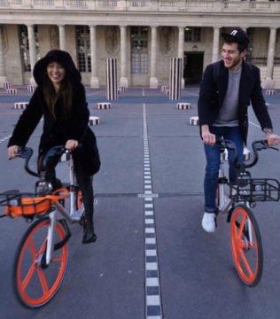 Mobike vélo orange bicycle Transdev mobilité mobility company soft mode doux intermodality multimodality