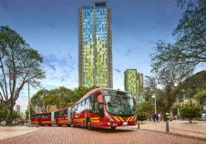 Transmilenio Transdev Bogota bus biarticulated bi articulé rapid transit BHNS BRT