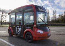 Transdev navette voiture autonome i-Cristal TORC autonomous shuttle mobility company