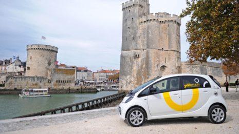 Transdev La Rochelle Yélomobile véhicule voiture électrique Auto-partage Proxiway