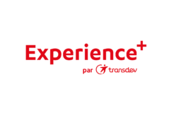 Transdev experience+ relation clients voyageurs transports publics logo