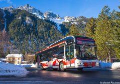 navette skibus chamonix bus montagne neige ski passager transport transdev savoie
