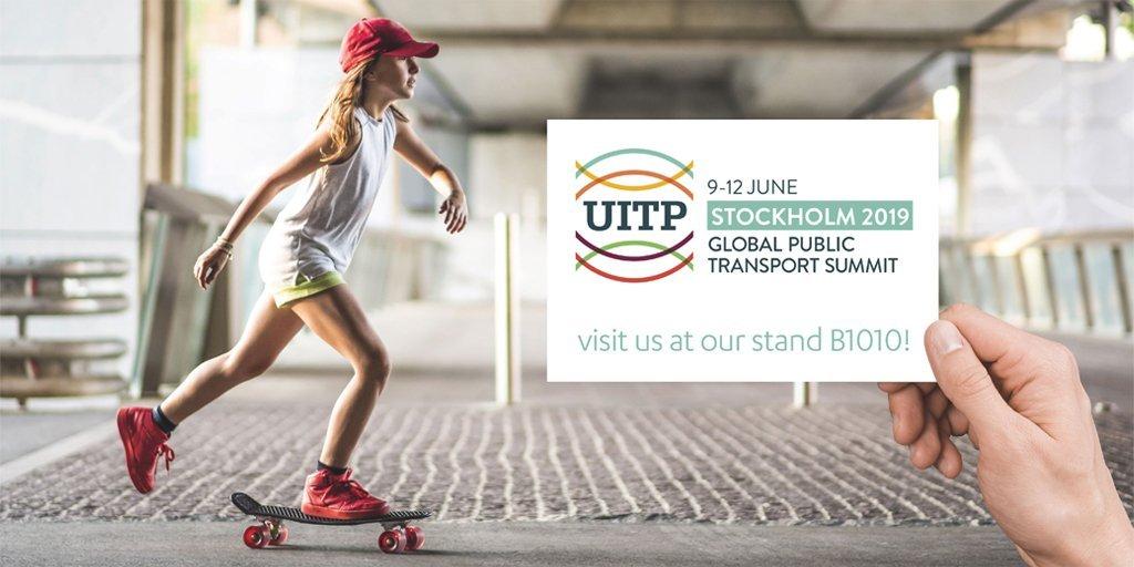 Transdev UITP Global public transport Summit Stockholm 2019 stand