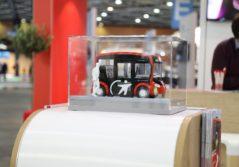 Transdev stand salon EVS Lyon mobilité propre électrique navette autonome i-Cristal