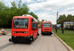 Transdev Canada experimentation navette vehicule shuttle autonome autonomous red Montreal passenger mobility