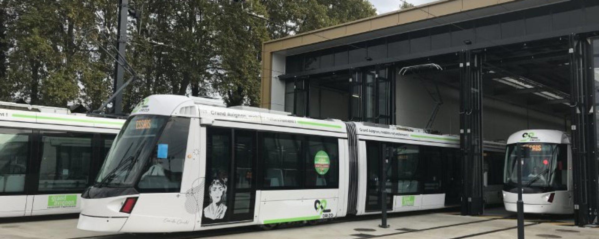 Inauguration tramway avignon