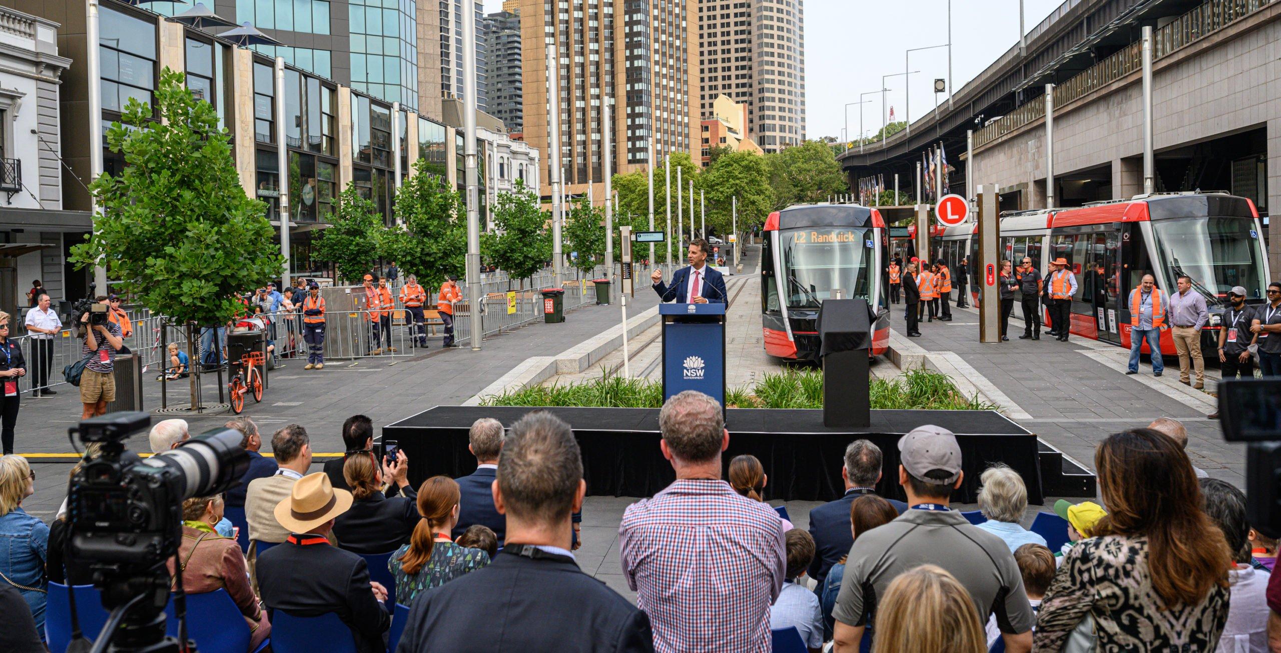 Inauguration tramway sydney